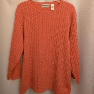 Alfred Dunner coral sweater
